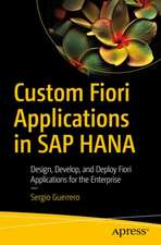 Custom Fiori Applications in SAP HANA