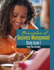 Principles of Business Management Study Guide 1