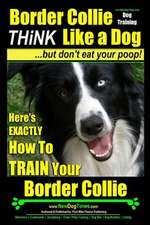 Border Collie Dog Training - Think Like a Dog, But Don't Eat Your Poop!