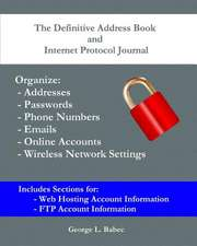 The Definitive Address Book and Internet Protocol Journal
