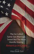 The So Called Same-Sex Marriage, Sweet But the Most Horrific Enemy:  America in Crisis