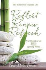 Reflect, Renew and Refresh, the 3 R's for an Inspired Life