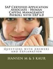 SAP Certified Application Associate - Human Capital Management Payroll with Erp 6.0
