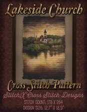 Lakeside Church Cross Stitch Pattern