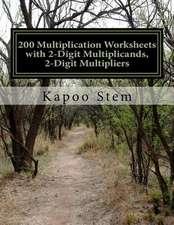 200 Multiplication Worksheets with 2-Digit Multiplicands, 2-Digit Multipliers