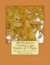 100 Worksheets - Finding Larger Number of 5 Digits