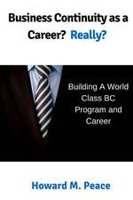 Business Continuity as a Career? Really?