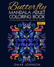 Butterfly Mandala Adult Coloring Book Vol 1