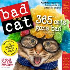 BAD CAT COLOUR PAGEADAY CALENDAR 2020
