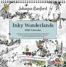 Johanna Basford 2021 Coloring Wall Calendar: Inky Wonderlands