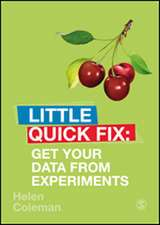 Get Your Data From Experiments