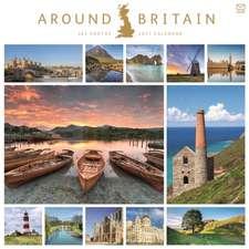 Around Britain in 365 Days Square Wall Calendar 2021