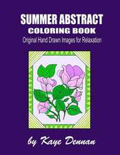 Summer Abstract Coloring Book