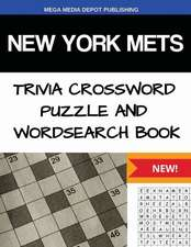 New York Mets Trivia Crossword Puzzle and Word Search Book
