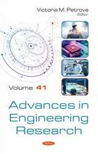 Advances in Engineering Research. Volume 41
