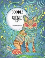 Doodle Dieren Kleurboek Voor Volwassenen 1 & 2