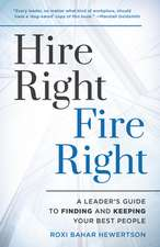 HIRE RIGHT FIRE RIGHT YOUR SUCCB