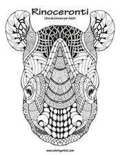 Rinoceronti Libro Da Colorare Per Adulti 1