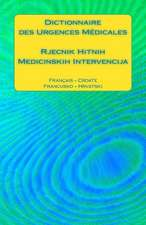 Dictionnaire Des Urgences Medicales / Rjecnik Hitnih Medicinskih Intervencija