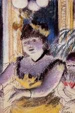 ''Cafe Concert Singer'' by Edgar Degas