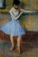 ''Dancer in Blue at the Barre'' by Edgar Degas
