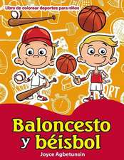 Baloncesto y Beisbol Libro de Colorear Deportes Para Ninos