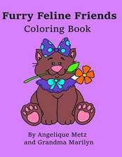 Furry Feline Friends Coloring Book