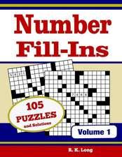 Number Fill Ins, Volume 1