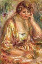 150 Page Lined Journal Andree in a Pink Dress, 1917 Pierre Auguste Renoir