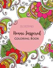 Henna Inspired Art and Coloring Book
