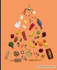 The Food & Exercise Journal - Food Pyramid Design (Orange)
