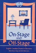 On Stage and Off Stage
