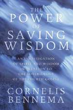 The Power of Saving Wisdom:  An Investigation of Spirit and Wisdom in Relation to the Soteriology of the Fourth Gospel