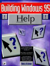 Building Windows 95 Help, with Disk
