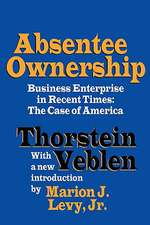 Absentee Ownership:  The Case of America