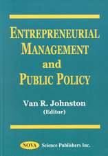 Entrepreneurial Management & Public Policy