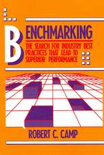 Benchmarking:  The Search for Industry Best Practices That Lead to Superior Performance