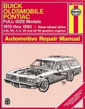 Buick, Oldsmobile & Pontiac Full-Size Models:  1970 Thru 1990