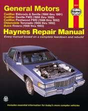 GM Cadillac El Dorado, Seville, Deville, Buick Riviera and Oldsmobile Toronado, 1986-1993:  All Full-Size Models 2wd and