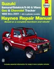 Suzuki Samurai/Sidekick/X-90 & Geo & Chevrolet Tracker:  All 4-Cylinder Models