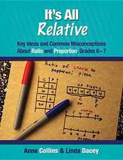 It's All Relative:  Key Ideas and Common Misconceptions about Ratio and Proportion, Grades 6-7