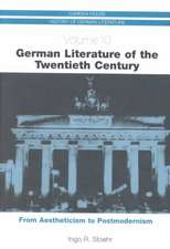 German Literature of the Twentieth Century – From Aestheticism to Postmodernism CHHGL 10