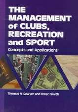 Management of Clubs, Recreation & Sport