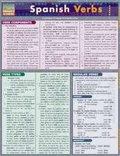 Spanish Verbs Laminate Reference Chart