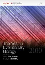 The Year in Evolutionary Biology 2010, Volume 1206