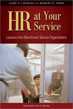 HR at Your Service:  Lessons from Benchmark Service Organizations