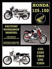 Honda Motorcycles Workshop Manual 125-150 Twins 1959-1966