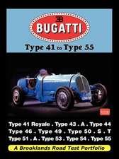 Bugatti - Type 41 to Type 55 Road Test Portfolio