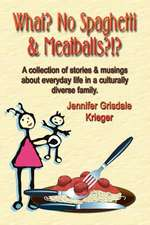 What? No Spaghetti and Meatballs?!? a Collection of Stories and Musings about Everyday Life in a Culturally Diverse Family.