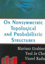 On Nonsymmetric Topological and Probabilities Structures
